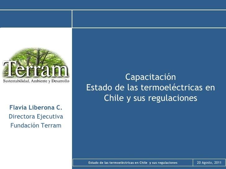 Estado de las termolectricas en chile y sus regulaciones  agosto 2011