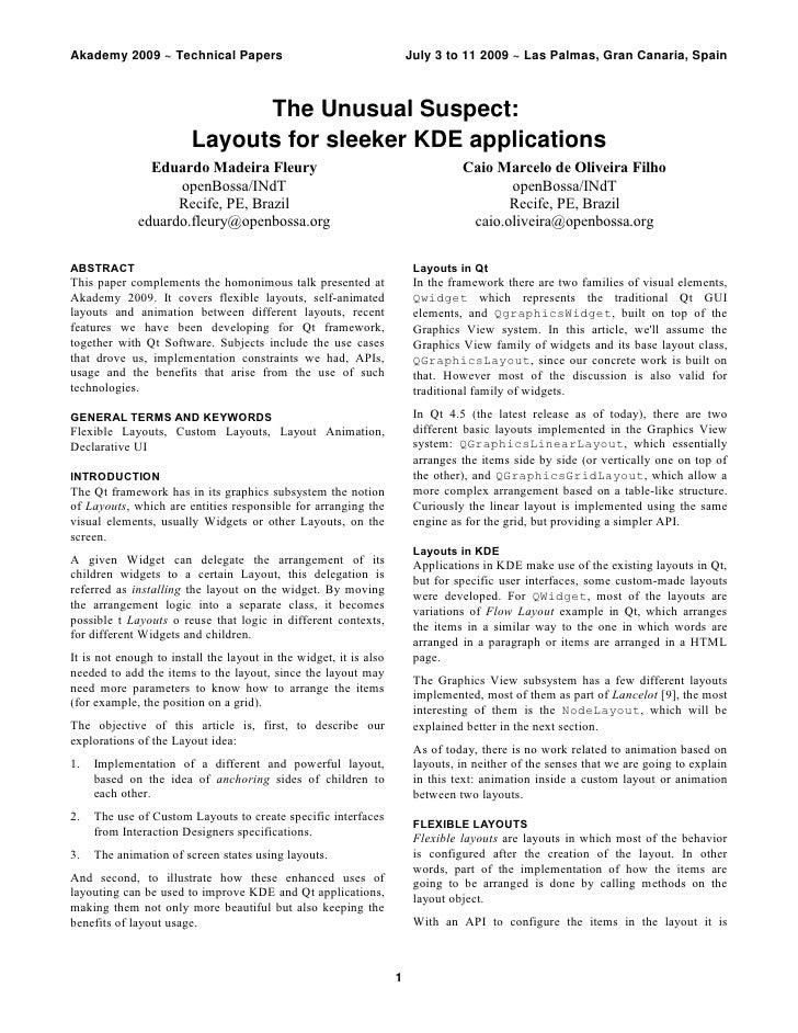 Akademy2009~TechnicalPapers                                        July3to112009~LasPalmas,GranCanaria,Spain...