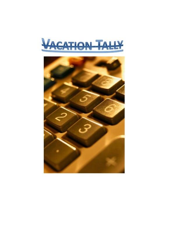 Vacation Tally