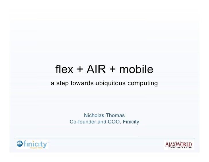 Flex  Air  Mobile Nicholas Thomas Aja Xworld2008