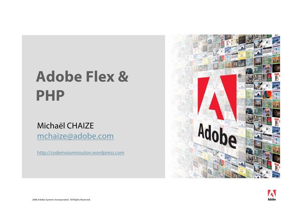 Flex et Php Afup