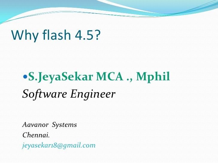 Flex 4.5  jeyasekar