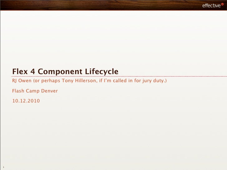 Flex4 component lifecycle