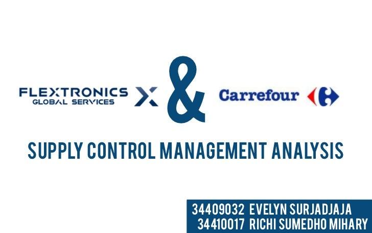 &Supply Control management Analysis                 34409032 Evelyn Surjadjaja                  34410017 Richi Sumedho Mih...