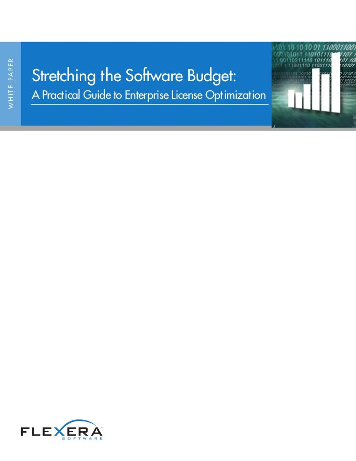 W H I T E PA P E R                     Stretching the Software Budget:                     A Practical Guide to Enterprise...