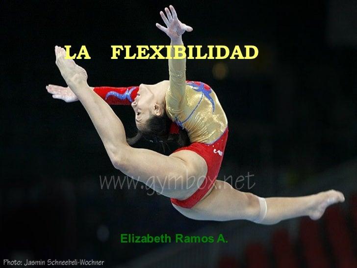 LA  FLEXIBILIDAD Elizabeth Ramos A.