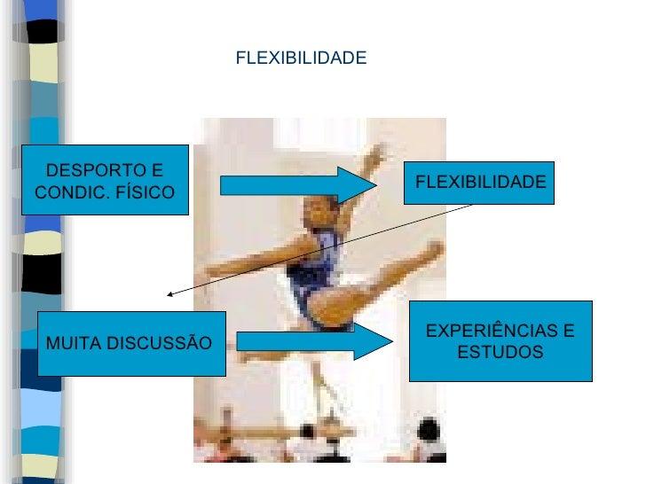 FLEXIBILIDADE DESPORTO E CONDIC. FÍSICO FLEXIBILIDADE MUITA DISCUSSÃO EXPERIÊNCIAS E ESTUDOS