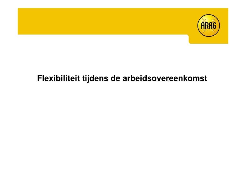 Flexibiliteit tijdens de arbeidsovereenkomst