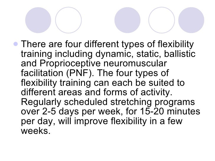 What are the four types of stretching?