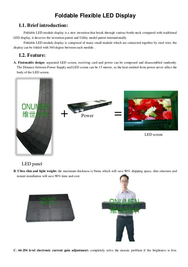 Foldable Flexible LED Display1.1. Brief introduction:Foldable LED module display is a new invention that break through var...