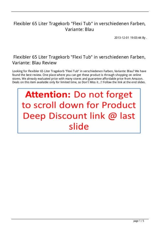 """Flexibler 65 Liter Tragekorb """"Flexi Tub"""" in verschiedenen Farben, Variante: Blau 2013-12-01 19:03:44 By .  Flexibler 65 Li..."""