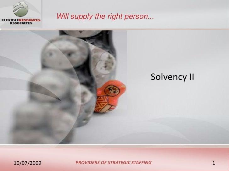 Flexible Resources Associates Solvency 2