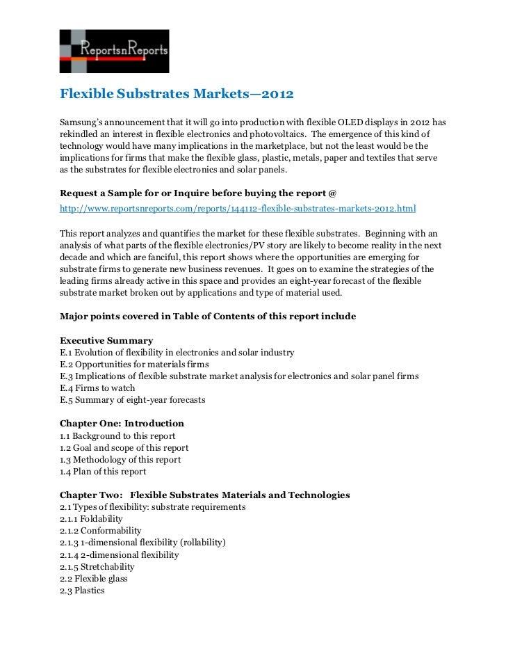 Flexible substrates markets