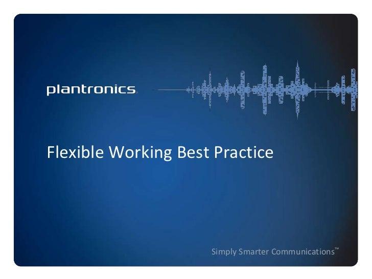 Flexible working best practice