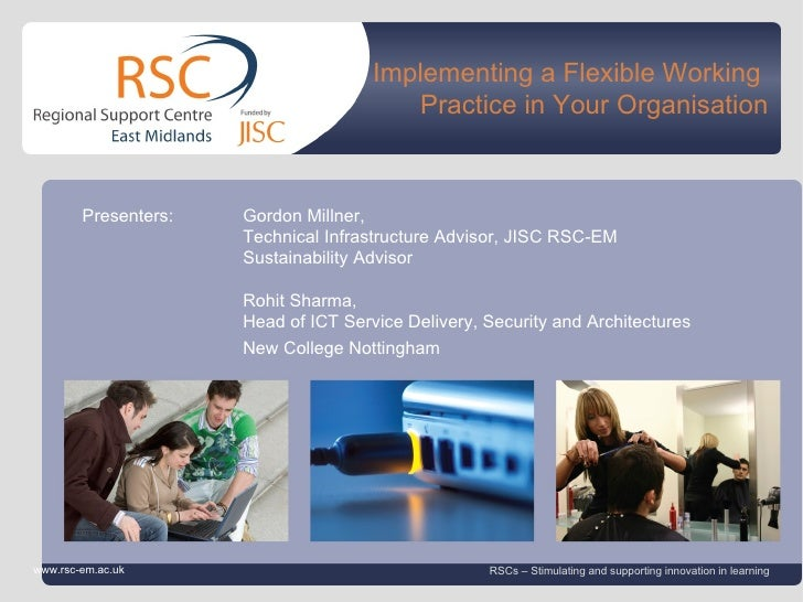 Implementing a Flexible Working                                                          Practice in Your Organisation    ...