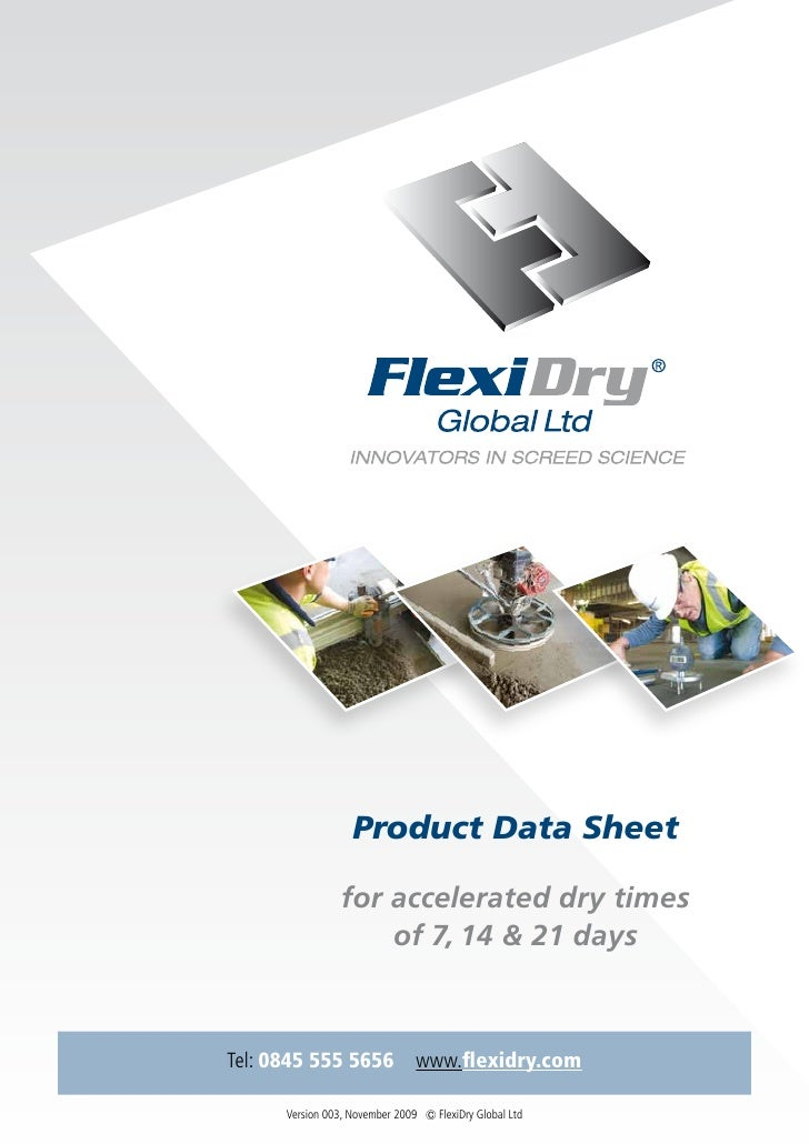 Product Data Sheet                   for accelerated dry times                      of 7, 14 & 21 days    Tel: 0845 555 56...