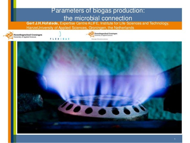 Parameters of biogas production:the microbial connectionGert J.H.Hofstede, Expertise Centre ALIFE, Institute for Life Scie...