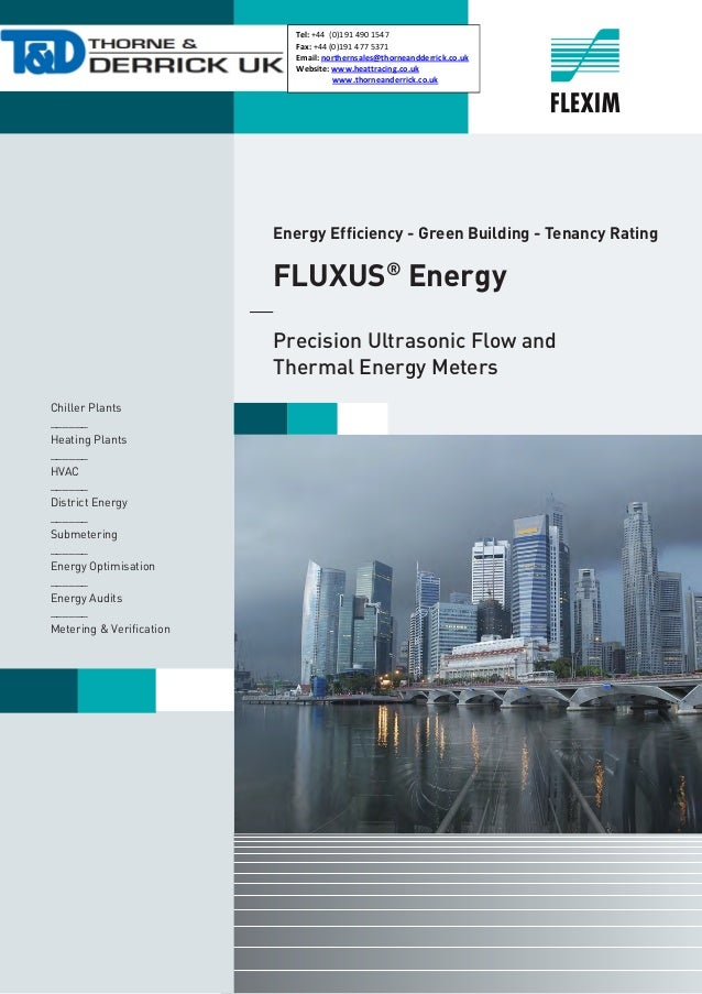 Flexim Fluxus Ultrasonic Flow Meters - Thermal Energy - BTU - Applications Brochure