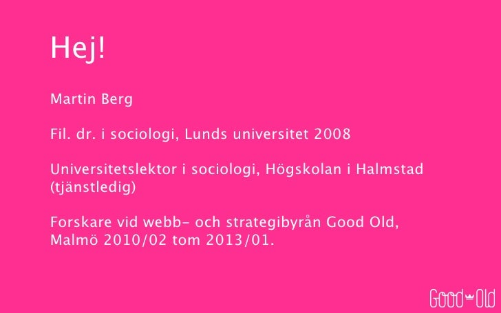 Flexitseminarium, Stockholms universitet, November 2010