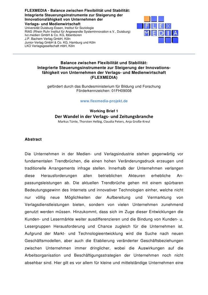 FLEXMEDIA - Balance zwischen Flexibilität und Stabilität: Integrierte Steuerungsinstrumente zur Steigerung der Innovations...