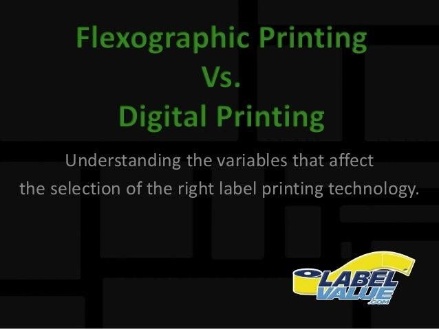 Flexographic Printing vs. Digital Printing