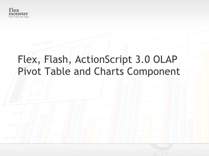 Flex, Flash, ActionScript 3.0 OLAP Pivot Table and Charts Component