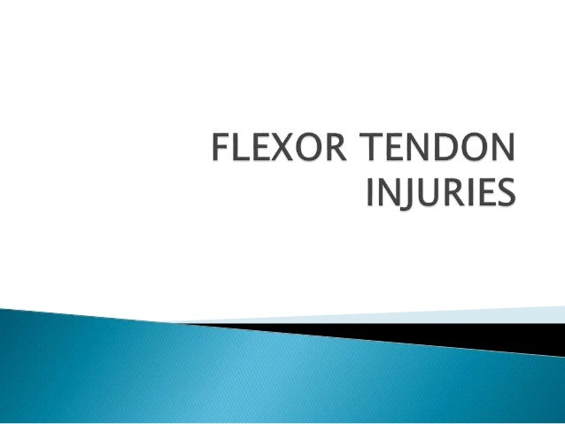 Flexor tendon injuries