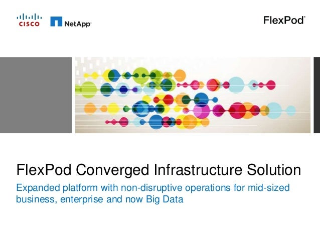 FlexPod Converged Infrastructure Solution Expanded platform with non-disruptive operations for mid-sized business, enterpr...