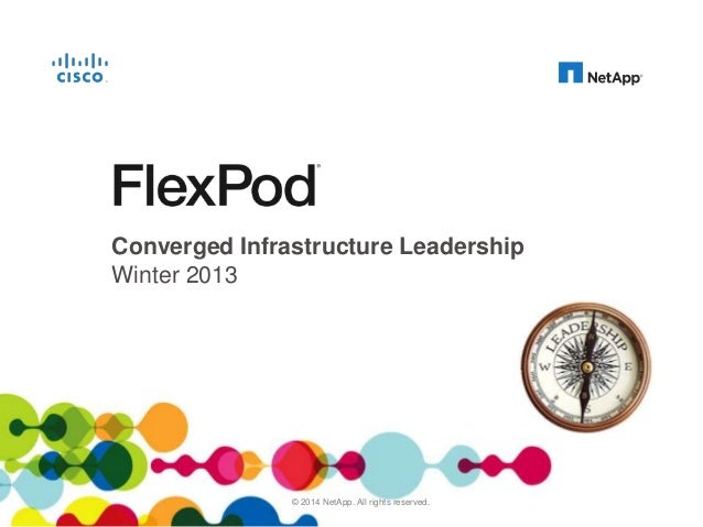 Converged Infrastructure Leadership Winter 2013  © Distribute. Cisco and NetApp Confidential. For Internal Use Only. Do No...
