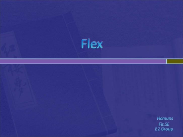 Flex presentation1