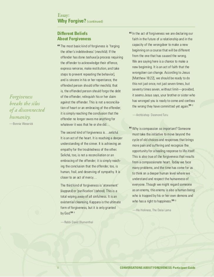 long essays on forgiveness