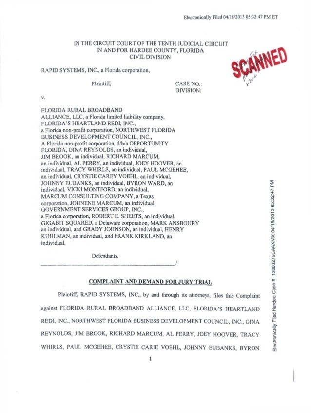 Electronically Filed 04/18/2013 05:32:47 PM ET/ >LIN THE CIRCUIT COURT OF THE TENTH JUDICIAL CIRCUITIN AND FOR HARDEE COUN...