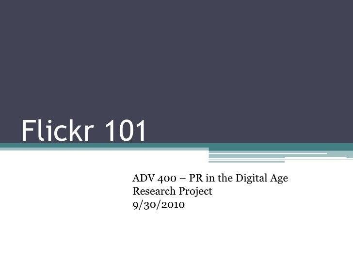 Flickr 101
