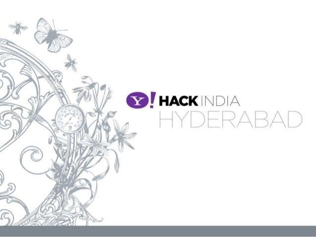 Yahoo! Hack India: Hyderabad 2013 | Flickr