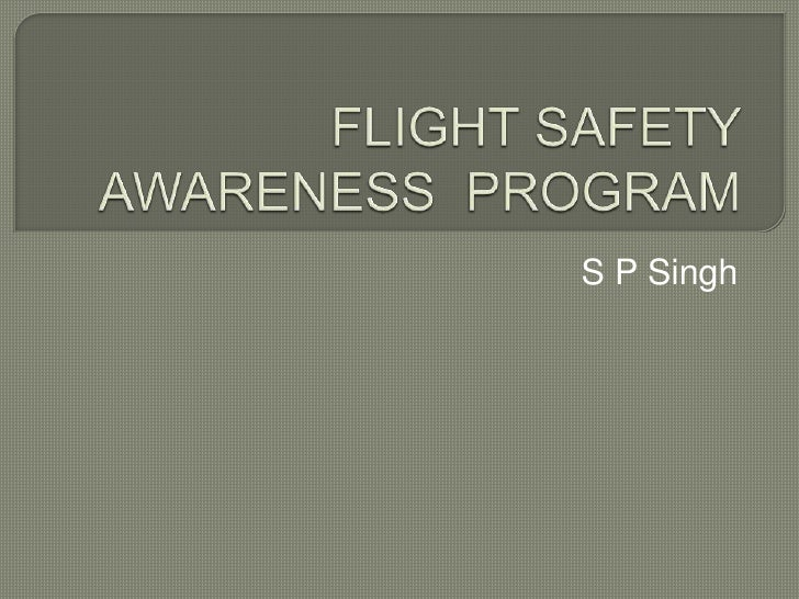 Flight safety awareness  program