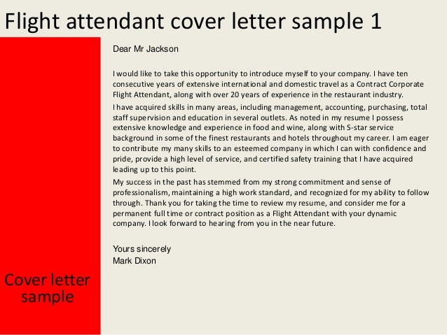Great Cover Letter Flight Attendant