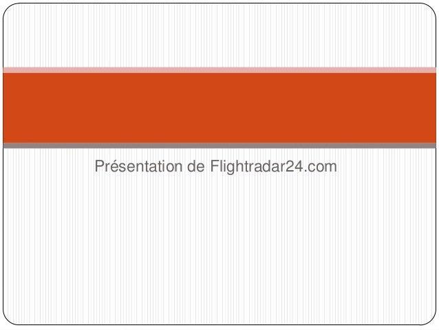 Présentation de Flightradar24.com