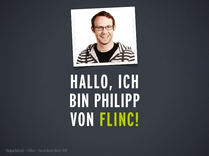 HALLO, ICH                                                  BIN PHILIPP                                                  V...