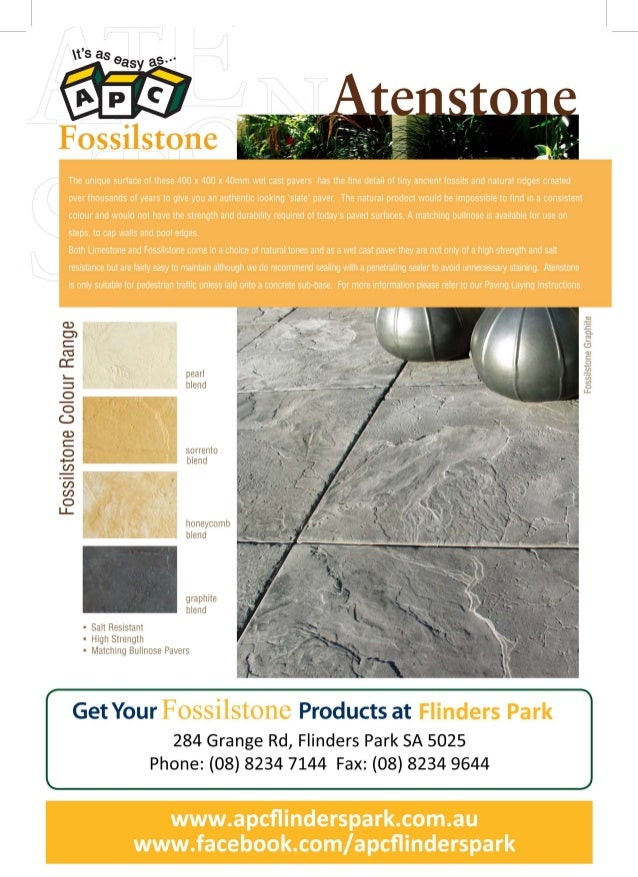Flinders park apc atenstone fossilstone