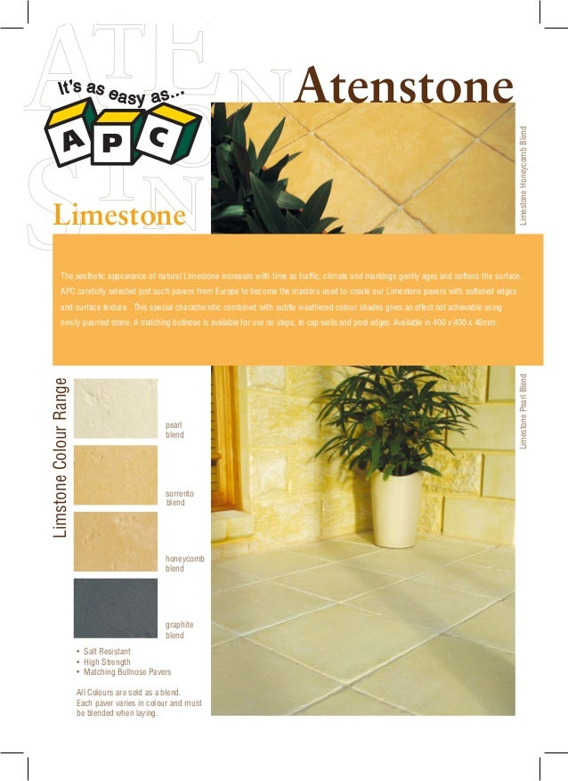 The aesthetic appearance of natural Limestone increases with time as traffic, climate and markings gently ages and softens...