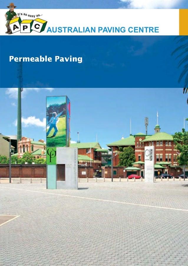 Flinders park apc_permable paving