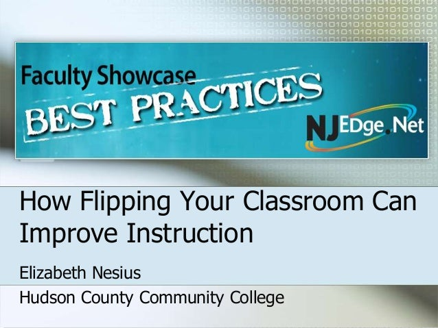 How Flipping Your Classroom CanImprove InstructionElizabeth NesiusHudson County Community College