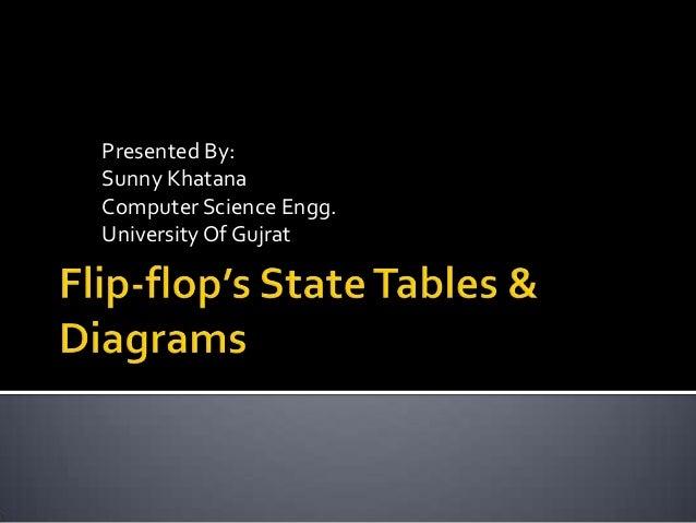 Flip flop's state tables & diagrams