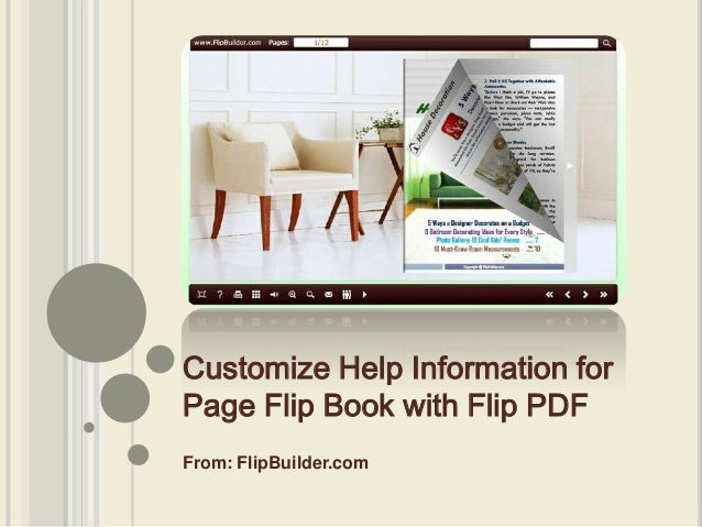 From: FlipBuilder.com Customize Help Information for Page Flip Book with Flip PDF