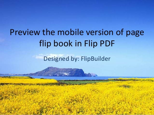 preview the mobile version of page flip book in Flip PDF