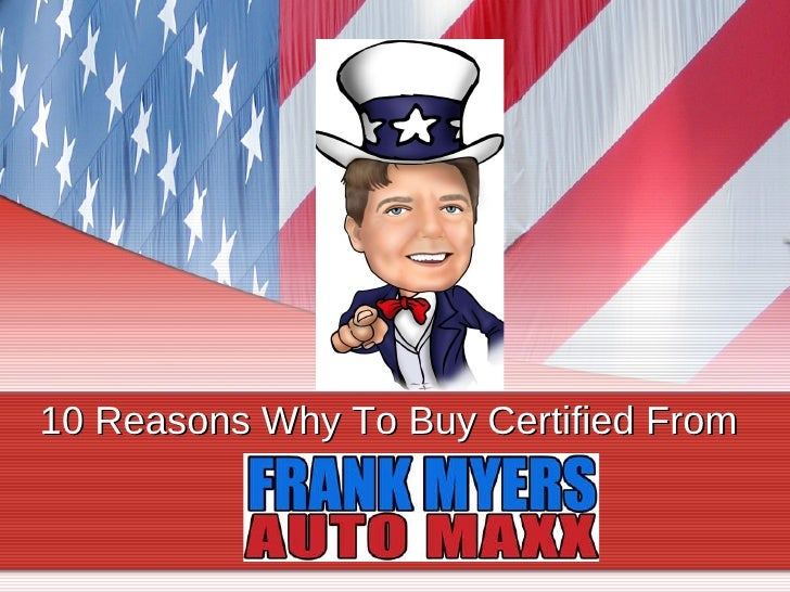 Certified Used Cars in Winston-Salem, NC by Frank Myers Auto Maxx