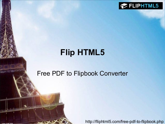 Flip html5 - free pdf to flipbook