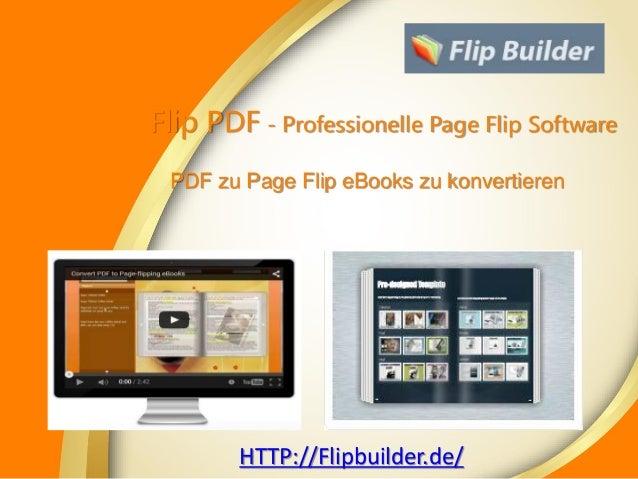 PDF zu Page Flip eBooks zu konvertieren HTTP://Flipbuilder.de/ Flip PDF - Professionelle Page Flip Software