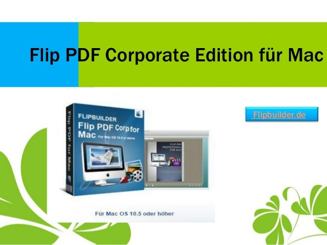Flip PDF Corporate Edition für Mac Flipbuilder.de