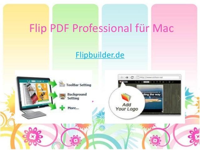 Flip PDF Professional für Mac Flipbuilder.de